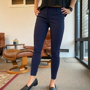 The Limited navy blue ankle trousers